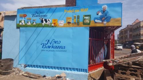 Nouvelle façade à N'golonina peinte par Sanou'Art